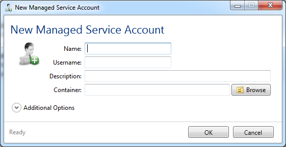 Managed Service: Windows 2012 Managed Service Account